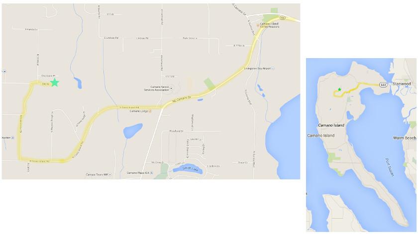 Map showing driving directions to Spirit Ridge Inn